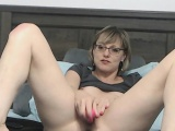 SEXY Short Hair MILF with Glasses and Hairy Pussy