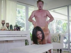 Extra small cheerleader gets fucked by a big cock
