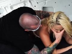 Blonde Hitchhiker Fucked in van
