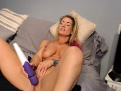 Friendly Hot MILF With Blonde Pink Hair and Tattoos
