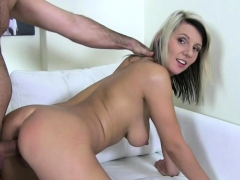 Astonishing eurobabe fucked deeply at casting