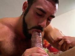 Muscular Masseur Sucks His Former Teachers Big Fat Cock