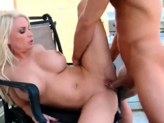 Blonde Buxom Cougar Rides Stepson Dick