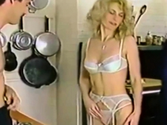 Beautiful Vintage Babe Handles Two Dicks