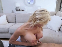 Stepmom used tits to fucked Alexis young cock