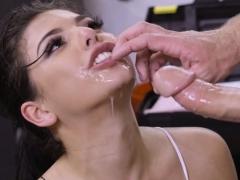 Latina Mechanic Takes A Break For Dick