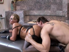 Big tits pornstar ass to mouth with facial