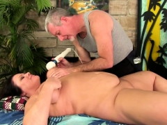 Chubby Brunette Visits A Masseur He Gets Her Naked And