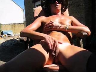 English mature films herself wanking in backyard