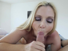 Perv Mom pulling my man meat inside her pussy