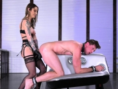 Hot mistress anal fisting with massage