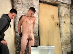 Nude gay black male hunk Poor Leo can't escape as the