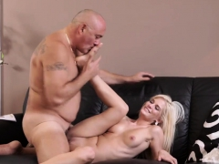 Old man strapon and woman swallow cum Horny ash-blonde wants