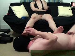 German Bdsm Amateur Slave By Foot Fetish Smoking Femdom