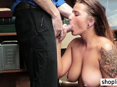Tattooed Bbw Blonde Teen Seduced And Fucked A Policeman