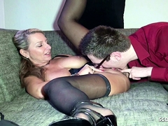GERMAN MOTHER TEACH VIRGIN STEP SON HOW TO FUCK WITH SEX