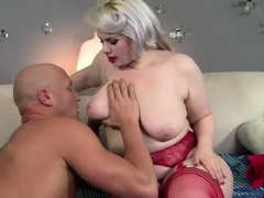 Big booty blonde BBW gets fucked by a big dick