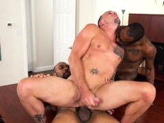 Gay amateur gives head and fucks bbcs
