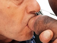 Big dick in my mouth at the sex car