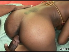 Dirty whore with a sexy ass blows and gets banged