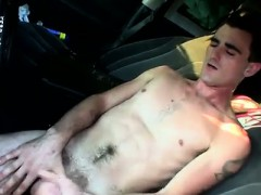 Hot twink Pissing into a puddle and then tugging out a jizz
