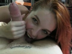Sexy amateur girl sucks off and pussy banged by fraud driver